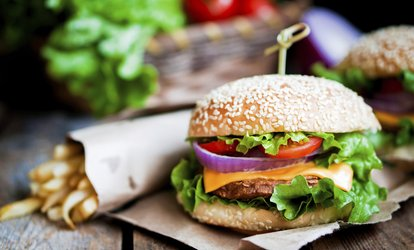 image for Burger Meal with a Bottle of Beer or a Glass of Wine for Two of Four at The Melville (Up to 49% Off)