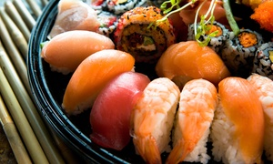 Rice Cafe: Sushi and Japanese Food at Rice Cafe (Up to 55% Off). Two Options Available.