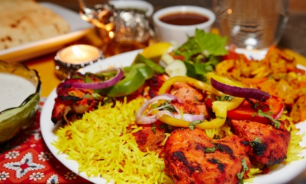 Two-Course Indian or Persian Meal with Drinks for Up to Four at Rose Restaurant