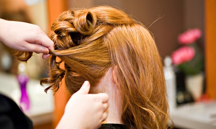 Aryana Salon - Downtown Bellevue: Updo with Optional Haircut and Makeup, or Brazilian Keratin Treatment at Aryana Salon (Up to 60% Off)