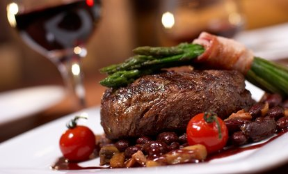 image for Sirloin Steak Meal with a Glass of Wine for Two or Four at Reeds Restaurant (45% Off)