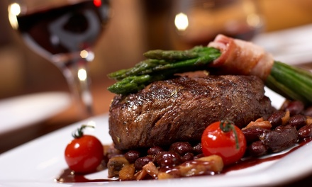 Sirloin Steak Meal with a Glass of Wine for Two or Four at Reeds Restaurant (45% Off)