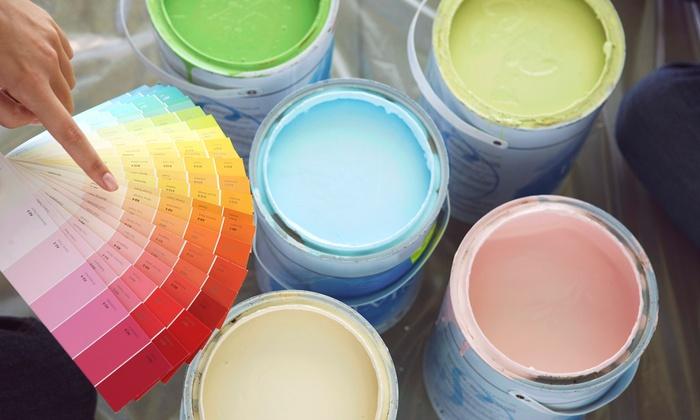 Pintores Vergara - Pintores Vergara: 2 capas de pintura de paredes y techos para estancias de 50, 75, 100 o 150 m2 de suelo desde 139 € en Pintores Vergara