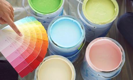 2 capas de pintura de paredes y techos para estancias de 50, 75, 100 o 150 m2 de suelo desde 149 € en Nivel 8