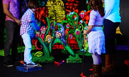 Glow-in-the-Dark Mini-Golf or Party Package for up to 10 at Rainforest Glow Golf (Up to 47% Off).