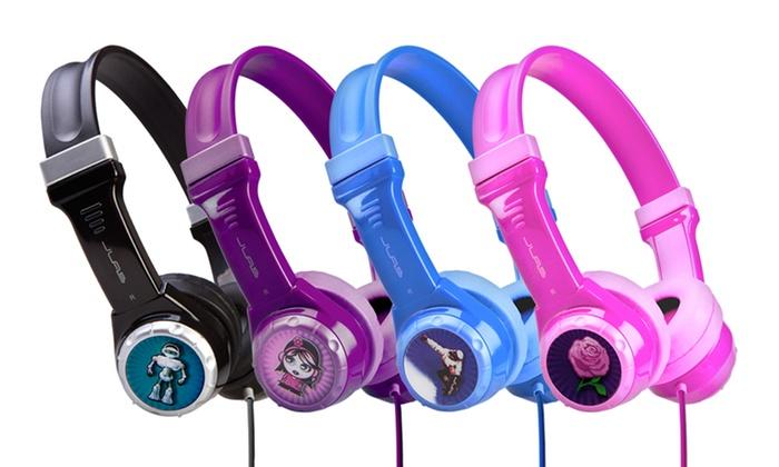 9e62945fbe4 JLab JBuddies Kids Volume-Safe Headphones | Groupon