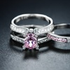 3.18 CTTW Engagement Ring Set with Cubic Zirconia by Barzel