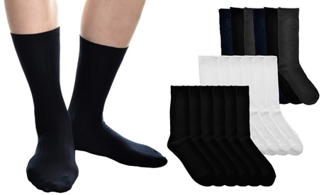 Men's Ribbed Cotton Dress Socks (6-Pack) bc6cccfc-3b2f-11e7-a6f3-00259060b5da