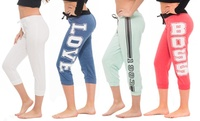 Coco Limon Women's Assorted Capri Joggers (4-Pack)