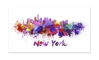 Vivid Splatter City Skyline 24x13