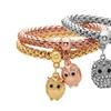 Stretch Popcorn Bracelet Sets with Austrian-Crystals (3-Piece)