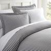 Merit Linens Premium Ultra Soft Ribbon Pattern 3 Piece Duvet Cover Set
