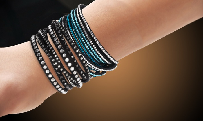 Up To 92 Off On Austrian Crystal Wrap Bracelets Groupon Goods