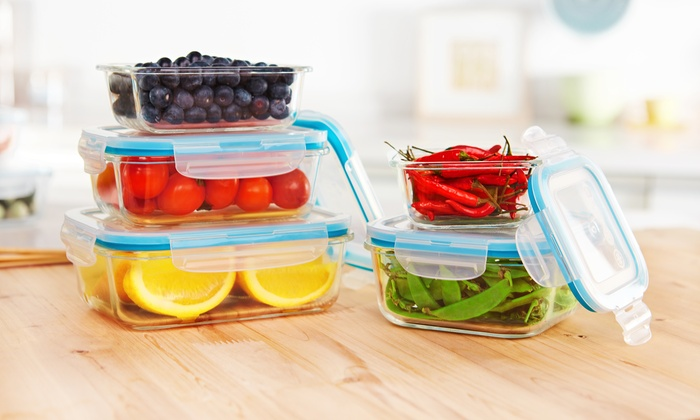 Glass Food Storage Containers With Locking Lids Fascinating FoodStorage Containers 60Pc Groupon Goods