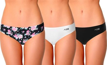 AQS Women's Seamless Thongs (3-Pack)