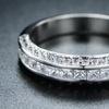 Barzel Cubic Zirconia Half-Eternity Three-Row Ring