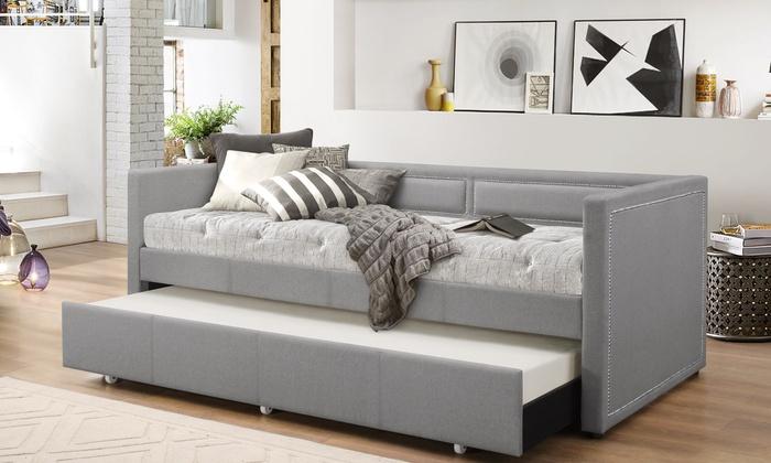 Fabric Nailhead Trim Sofa Daybed Groupon Goods