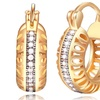 Hoop Earrings Made with Swarovski Elements and Plated in 18K Gold