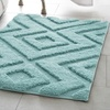 Lilah 17x24 100% Microfiber Luxurious Bath Rug (Aqua)