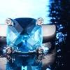 Clearance: Cushion Cut Sky Blue Rock Crystal Ring