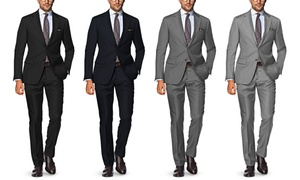 Verno Men's Classic Fit 100% Wool Suits (2-Piece)