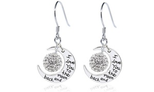 Engraved to the Moon and Back Drop Earrings With Swarovski Elements at Engraved to the Moon and Back Drop Earrings With Swarovski Elements, plus 6.0% Cash Back from Ebates.