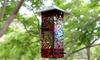 Mosaic Stained Glass Bird Feeder
