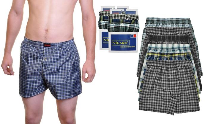 Vigaro Men's Cotton-Rich Boxer Shorts (6-Pack)