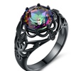 Brilliant-Cut Rainbow Topaz Engagement Ring