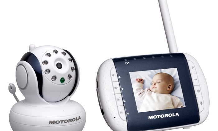 24 off on motorola video baby monitor groupon goods. Black Bedroom Furniture Sets. Home Design Ideas