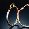 Sevil Tri-Tone 18K Gold-Plated Hoop Earrings