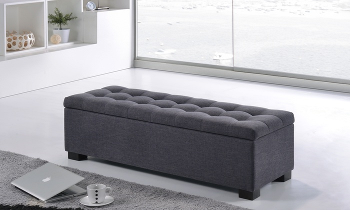 Roanoke Tufted Storage Ottoman ...