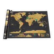 World Travel Scratch Map Wall Art