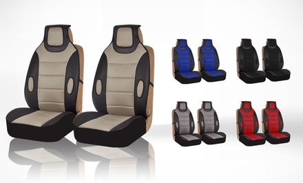 Leatherette Automotive Front Seat Cushion Pad Set