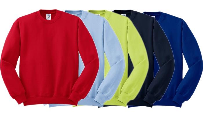 Jerzees Men's Crew-Neck Sweatshirt (2-Pack)