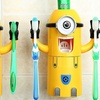 Minion-Themed Toothpaste Dispenser and Toothbrush Holder