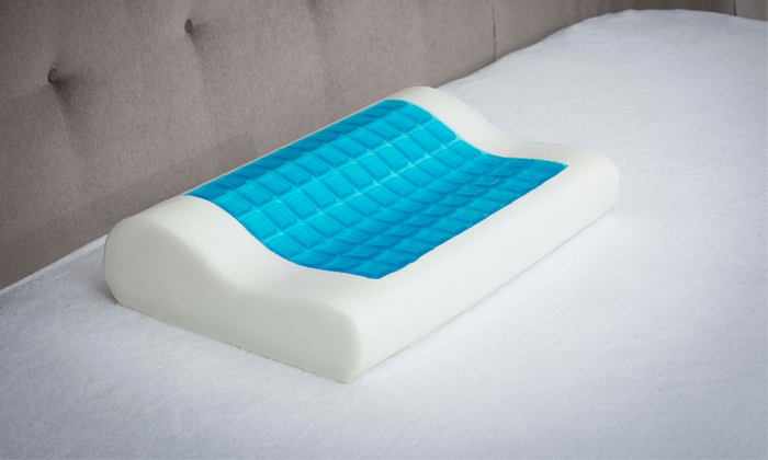 up to 58 off on cooling gel memory foam pillow groupon goods. Black Bedroom Furniture Sets. Home Design Ideas