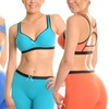 Angelina Keyhole Racerback Sports Bras or Boxer Shorts (6-Pack)
