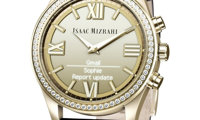 HP Isaac Mizrahi Smartwatch with Leather Band