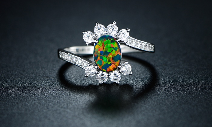 opal triplet natural rings black listing engagement ring il