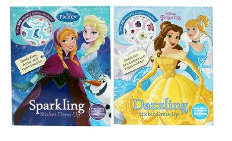 Disney Sticker Dress Up Books (2-Pack)