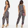 Women's Zip-Up Sleeveless Printed Jumper