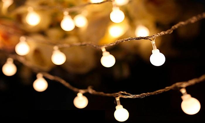 String Lights Vistaprint : 43% Off on LED Ball String Lights (16ft) Groupon Goods