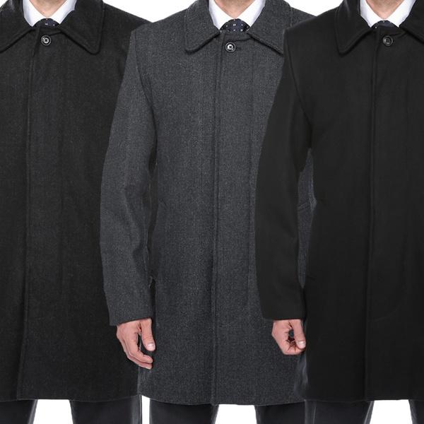 4ebf01badd Steve Harvey Men s Wool-Blend Topcoat