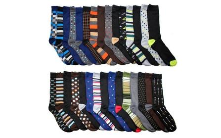 John Weitz Men's Dress Socks (30-Pair-Pack)