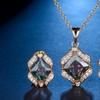 Rainbow Cubic Zirconia Jewelry Set (3-Piece)