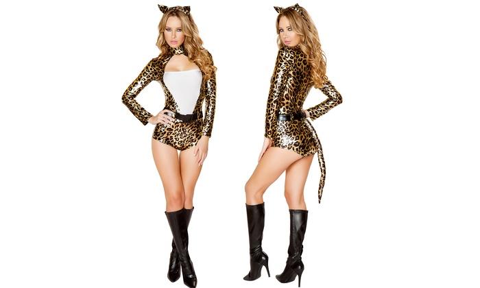 Yandy's Women's Metallic Sexy Leopard Costume