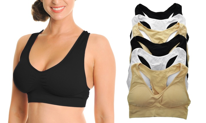 d9e8faed8f9d4 Angelina Wire-Free Seamless Plus-Size Bras (6-Pack)