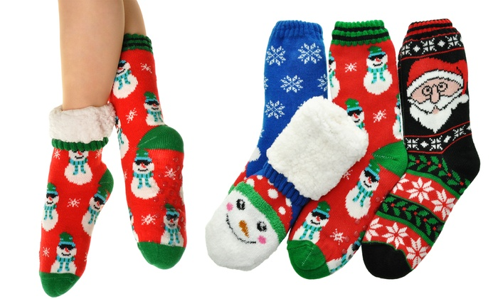 Angelina Women's Thermal Christmas Socks (3-Pack)