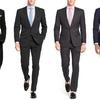 Groupon.com deals on Verno Mens Classic Fit Suits 2-Piece